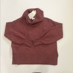 Rose Pink Cowl Neck Sweater Sz M NWT
